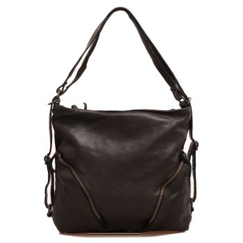 Женская сумка через плечо, из черной кожи - GIANNI CONTI