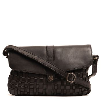 GIANNI CONTI - Black Leather Crossbody Bag