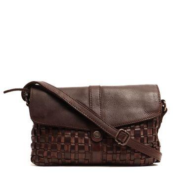 GIANNI CONTI - Brown Leather Crossbody Bag