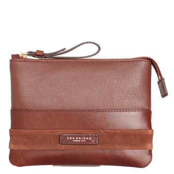 THE BRIDGE Ognissanti Line – Brown Leather Necessaire Made In Italy