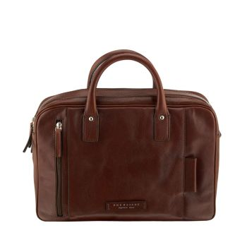 THE BRIDGE Passpartout Line – Brown Leather Messenger for Him