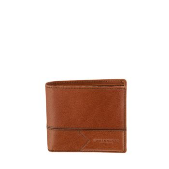 THE BRIDGE Giannutri Line – Cognac Leather Wallet for Him with Coin Pocket