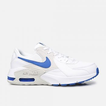 NIKE Air Max Excee Line – White Blue Leather Sneakers