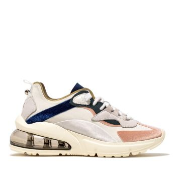 D.A.T.E. Aura Silk – White Sneakers