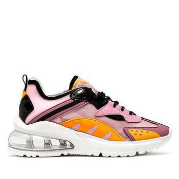 D.A.T.E. Aura Otter Line – Pink Fabric Sneakers