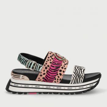 LIU JO Animal Print Platform Sandals