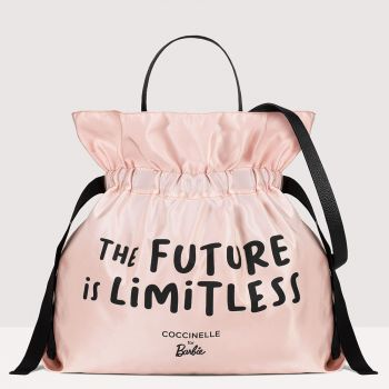 COCCINELLE For Barbie Line – Pink Nylon Leather Handle Bag