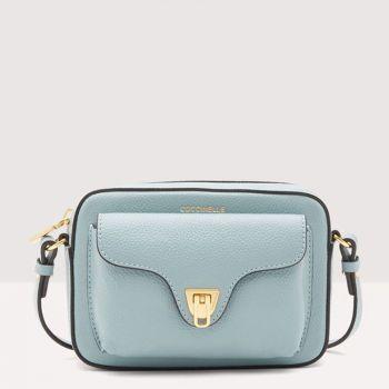 COCCINELLE Beat Soft Line – Mini Cloud Leather Crossbody Bag