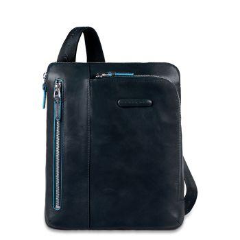 Сумка кросс-боди PIQUADRO в синем коже для iPad / iPad®Air, - CA1816B2 линия Blue Square