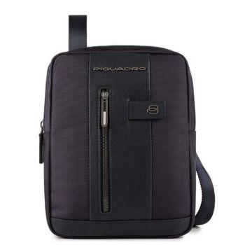 Организованная сумка Piquadro из синей ткани и кожи для iPad - CA1816B2 линия Brief 2