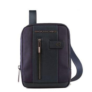 Мужская сумка для iPad Mini - PIQUADRO линия Brief 2 CA3084BR2 из ткани и кожи синего цвета