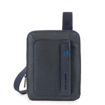 Мужская сумка через плечо PIQUADRO с отделением для iPadmini - CA3084P16 из ткани Chevron - синий