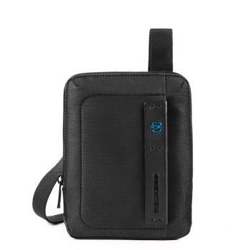 Мужская сумка через плечо PIQUADRO с отделением для iPadmini - CA3084P16 из ткани Chevron - черный