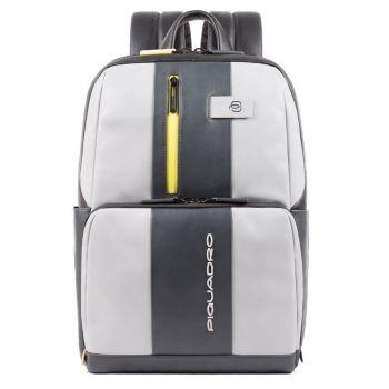 Рюкзак PIQUADRO для ноутбука 14 дюймов - линия Urban из серой и желтой кожи CA3214UB00BM с защитой от кражи