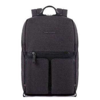 Рюкзак PIQUADRO Линия Tiros из ткани и кожи черного цвета - CA4541W98