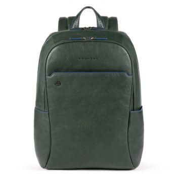 15,6-дюймовый рюкзак для ноутбука- линия PIQUADRO B2S из зеленой кожи CA4762B2S