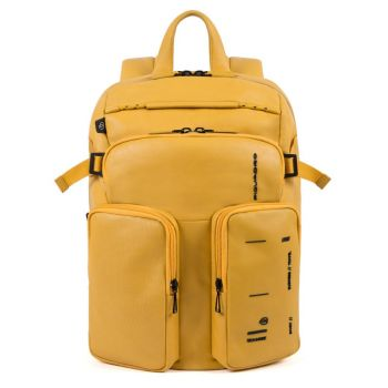 Рюкзак PIQUADRO линия Kyoto из желтой кожи CA4922S106