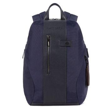 Рюкзак PIQUADRO линия Brief 2 из синей ткани и кожи - CA5478BR2