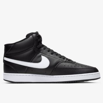 NIKE Court Vision Line – Mid Black Sneakers