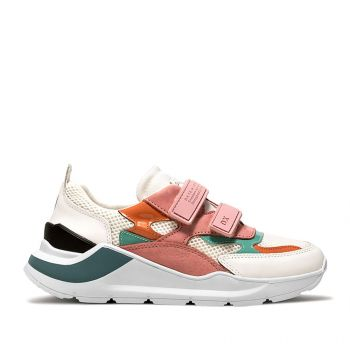 D.A.T.E. Fuga Strap Mesh Line – White Pink Sneakers