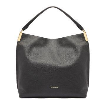 COCCINELLE Estelle Line – Black Leather Hobo Bag E1I3A130201001