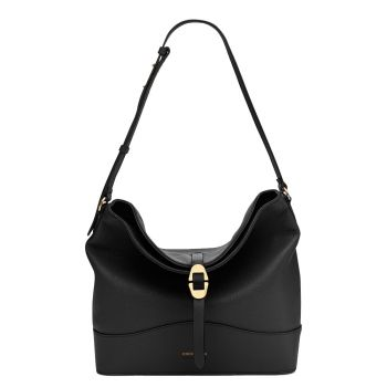 COCCINELLE Josephine Line – Black Leather Hobo Bag for Her