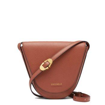 COCCINELLE Josephine Line – Cinnamon Leather Crossbody Bag for Her