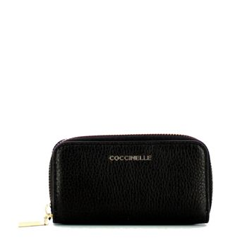 COCCINELLE Black Leather Pouch for Keys