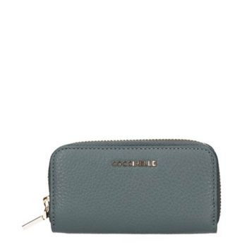 COCCINELLE Shark Grey Leather Pouch for Keys