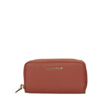 COCCINELLE Cinnamon Leather Pouch for Keys