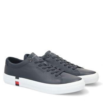 TOMMY HILFIGER Premium Line – Desert Sky Leather Sneakers for Men