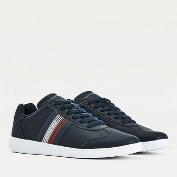 TOMMY HILFIGER Blue Leather Sneakers FM0FM03624