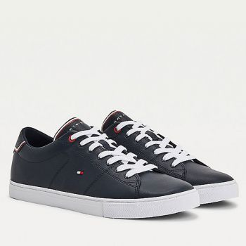 TOMMY HILFIGER Essential Line – Desert Sky Leather Sneakers