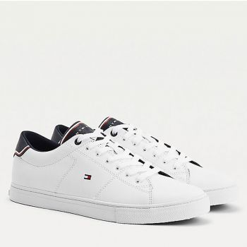 TOMMY HILFIGER Essential Line – White Leather Sneakers