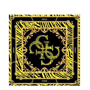 GUESS Yellow Foulard 90 x 90 cm