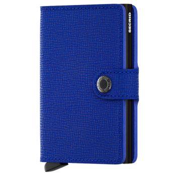 SECRID Miniwallet Crisple Blue Leather with RFID
