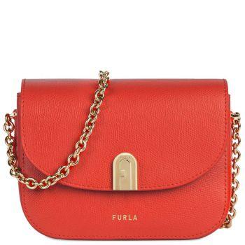 FURLA 1927 Line – Mini Ruby Leather Cross-Body Bag