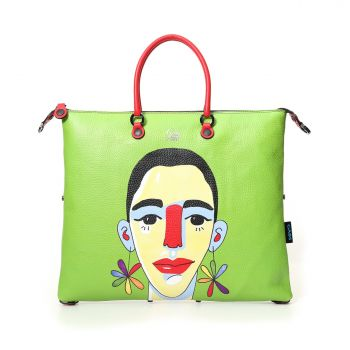 GABS G3 Super Line Large Leather Handle Bag with Flower Power Print