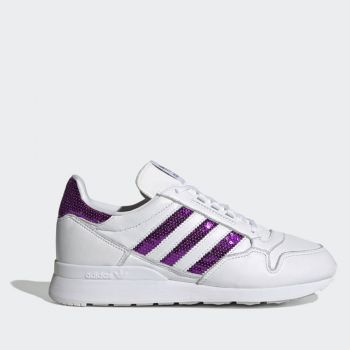 ADIDAS ZX 500 W Line – White Purple Leather Sneakers for Women