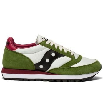 Saucony Jazz 81 Line – Tan Pesto Leather Fabric Sneakers for Men