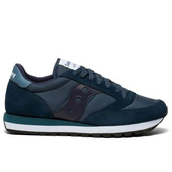 Saucony Jazz Original Line – Navy Blue Leather Fabric Sneakers for Men