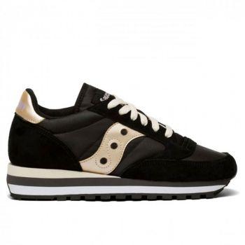 Saucony Jazz Triple Line – Black Suede Fabric Sneakers