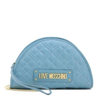 Borsa Donna Clutch con Tracolla LOVE MOSCHINO linea New Shiny Quilted Azzurro