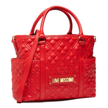 LOVE MOSCHINO New Shiny Quilted Line – Red Shoulder Bag