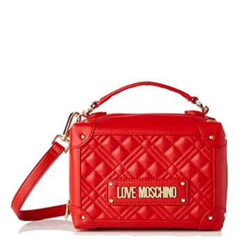 LOVE MOSCHINO Red Handle Bag with Quilted Effect JC4204