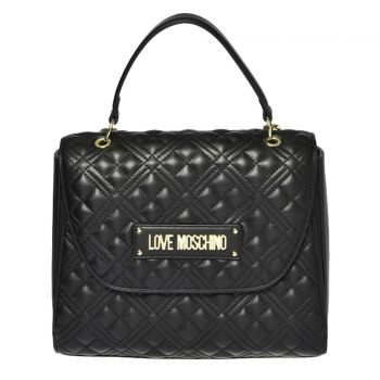 LOVE MOSCHINO Black Handle Bag  with Quilted Effect and LM Logo