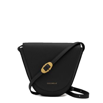 COCCINELLE Josephine Line – Black Leather Crossbody Bag for Her