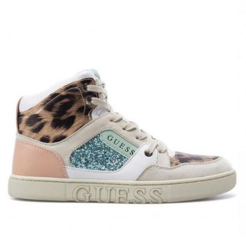 GUESS Justis Line – High White Sneakers