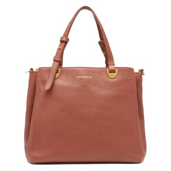 COCCINELLE Lea Line – Small Cinnamon Leather Shoulder Bag for Her