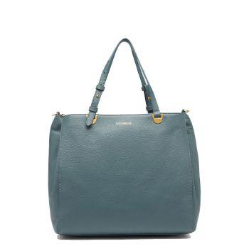 COCCINELLE Lea Line – Medium Shark Grey Leather Shoulder Bag for Her